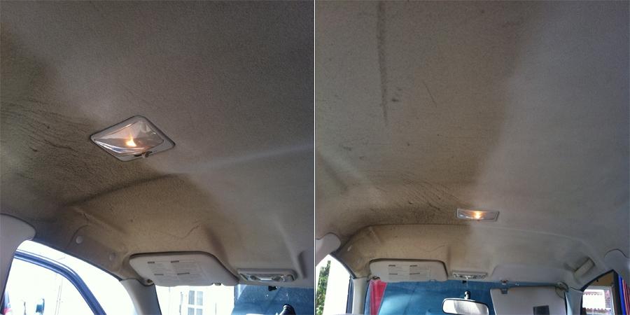 Tepovaní čalounění stropu
